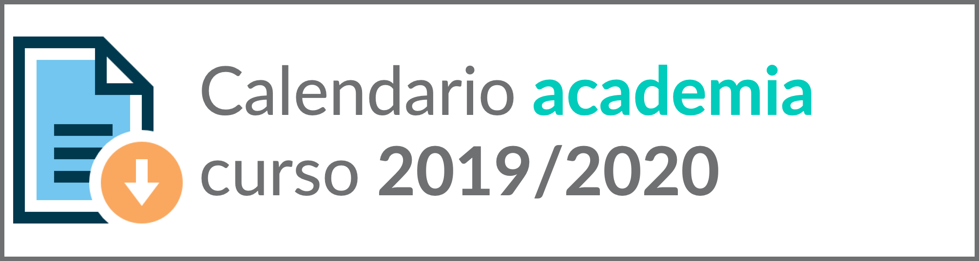 calendario academia 2019-2020